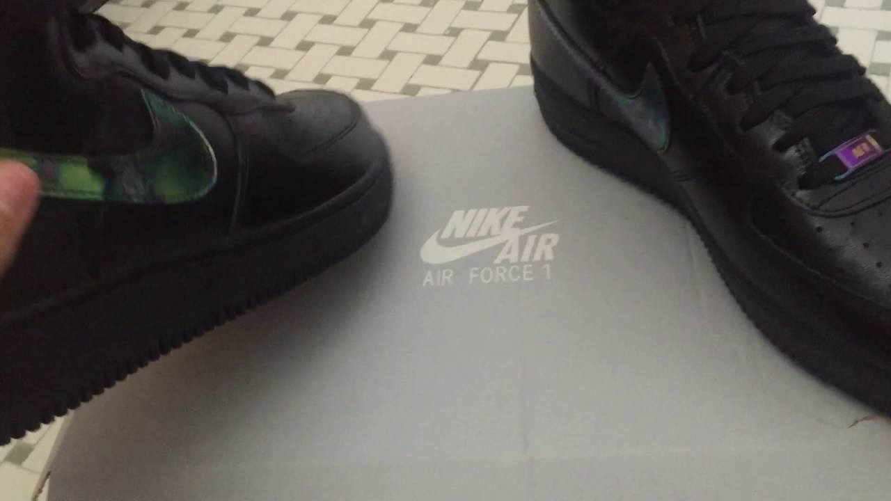 reputable site 698f8 6ccec ... low price nike air force 1 high oil slick unboxing review on foot  youtube 162b6 81118