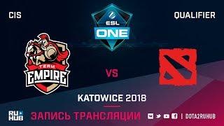 Empire vs Mega-Lada, ESL One Katowice CIS, game 2 [Maelstorm, GodHunt]