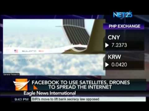 Facebook to use satellite, drones to spread the internet