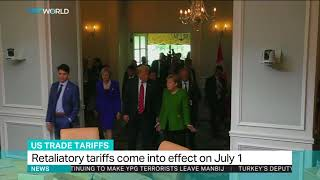 Canada hits back at US with tariffs on metals, bourbon & orange juice