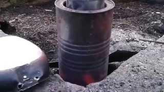 prosty piecyk do topienia aluminium przygotowanie i wstawienie wsadu