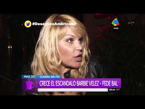Barbie Vélez habló de la catarata de insultos de la abuela de Federico Bal