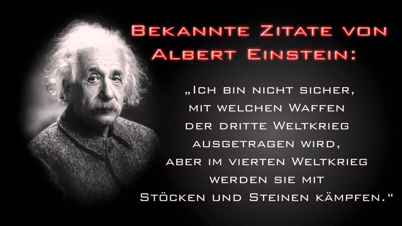 Zitate Von Albert Einstein Youtube