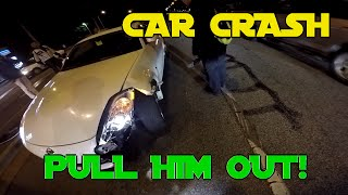 Pulled a guy out of a FLIPPED car