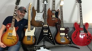 Comparing 8 Gibson and Fender guitars on a Marshall Plexi