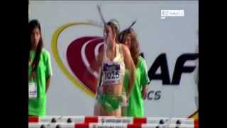 Repeat youtube video Michelle Jenneke dance - Aussie Hurdler dancing Pre Run 2012 Barcelona