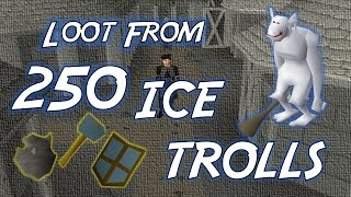 Loot From 250 Ice Trolls - OSRS Money Making
