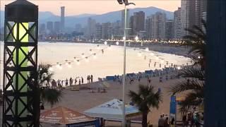 Апартаменты в Бенидорме на первой линии пляжа Леванте, вид с терассы.(, 2013-08-23T13:30:19.000Z)