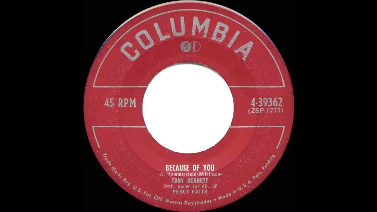 1951 HITS ARCHIVE: Because Of You - Tony Bennett (a #1 record)