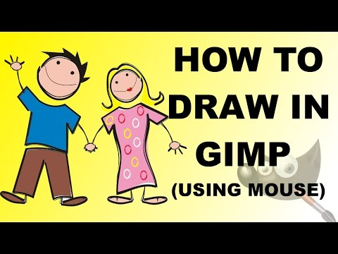 How To Draw In GIMP Using Mouse | #42