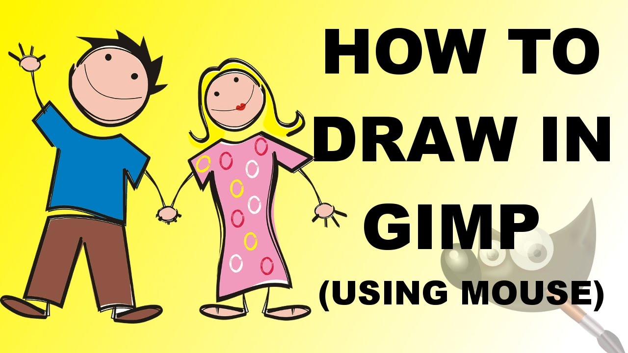 How To Draw In Gimp Using Mouse  #42