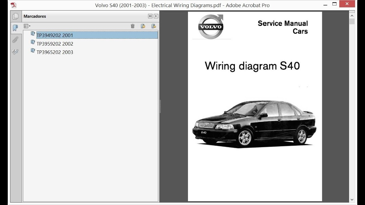 Volvo S40  2001-2003  - Electrical Wiring Diagrams