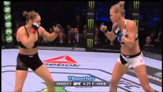 RONDA ROUSEY VS HOLLY HOLM UFC 193 REVIEW NO FIGHT FOOTAGE NOT FULL FIGHT