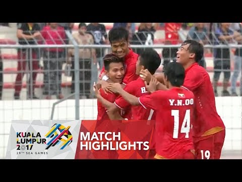 Football ⚽: Match Highlights Myanmar 🇲🇲 vs Singapore 🇸🇬  | 29th SEA Games 2017