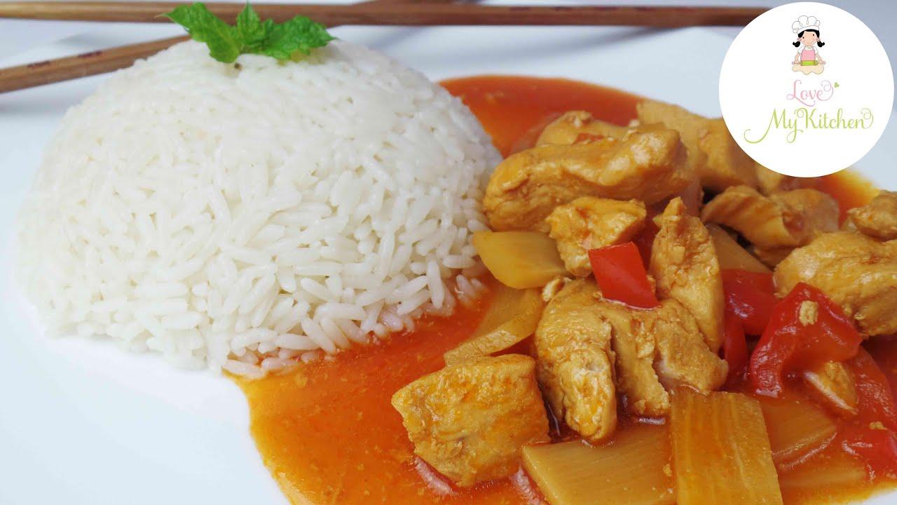 Rezept ♥ Hühnchen süß-sauer ♥ asiatisches Essen ♥ chinesisches ...