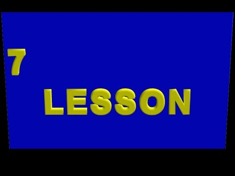 7th Lesson  (from the Ollendorff German Grammar )