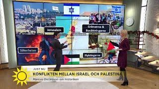 Israel-Palestinakonflikten: Här är de 4 svåraste frågorna att lösa - Nyhetsmorgon (TV4)