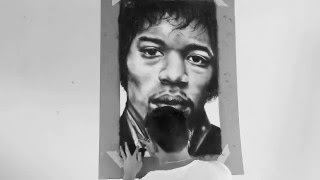Jimi Hendrix Time-Lapse Drawing