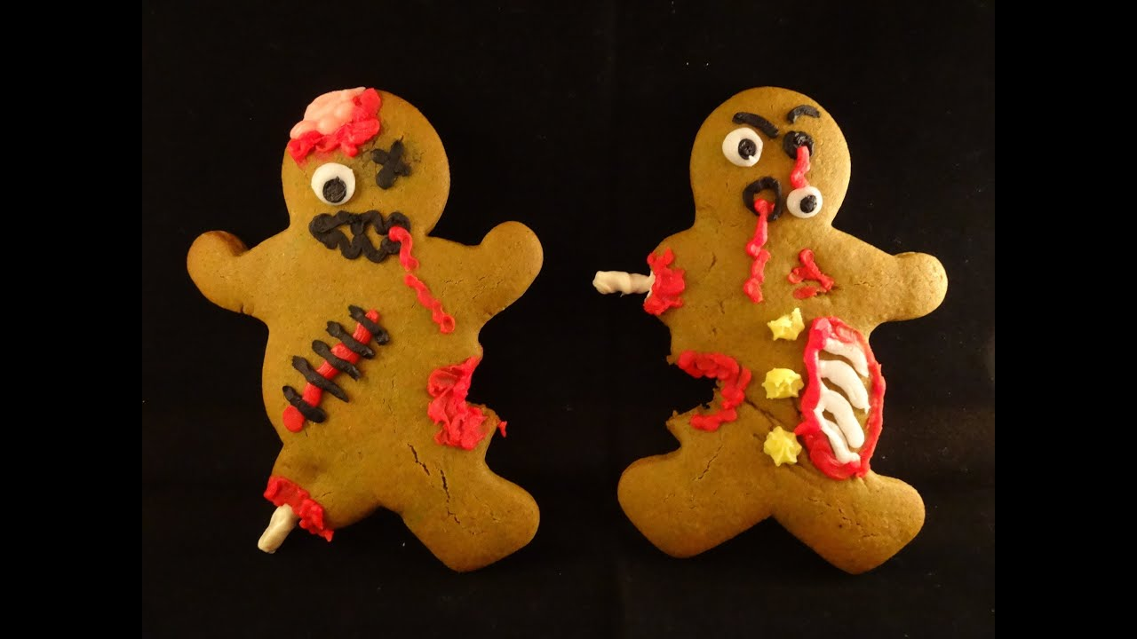 zombie gingerbread men cookies with yoyomax12 youtube - Halloween Gingerbread Cookies