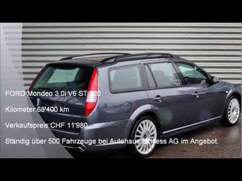 ford mondeo v6 st 220 f 9607 autohaus schiess ag occasion youtube. Black Bedroom Furniture Sets. Home Design Ideas