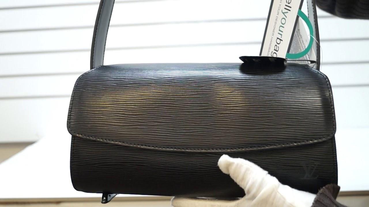 674f95f9 LOUIS VUITTON Nocturne PM Black Epi Leather Shoulder Bag E5053