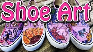 Diy Freestyle Art For Shoes Tutorial - Zentangle Designs