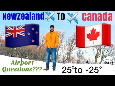 Punjabi Journey ✈️ ✈️ ✈️ From NewZealand 🇳🇿 To Canada 🇨🇦 . Temp. From 25°C To -25°C VLog-17