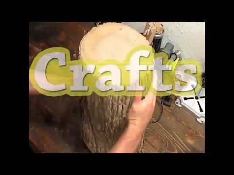 Tree Stump Side Table || Wood Project: How To Make A Stylish Wooden Side Table ||