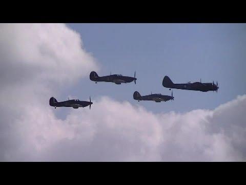 Duxford Battle Of Britain Airshow: Hawker Hurricanes and Bristol Blenheim