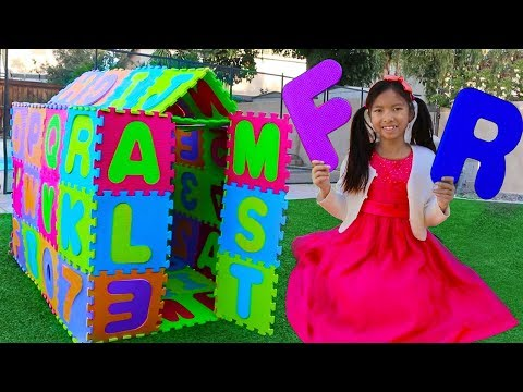 ABC Playhouse Song  Wendy Pretend Play w ABCs Toys & Learns the Alphabet Nursery Rhymes Songs