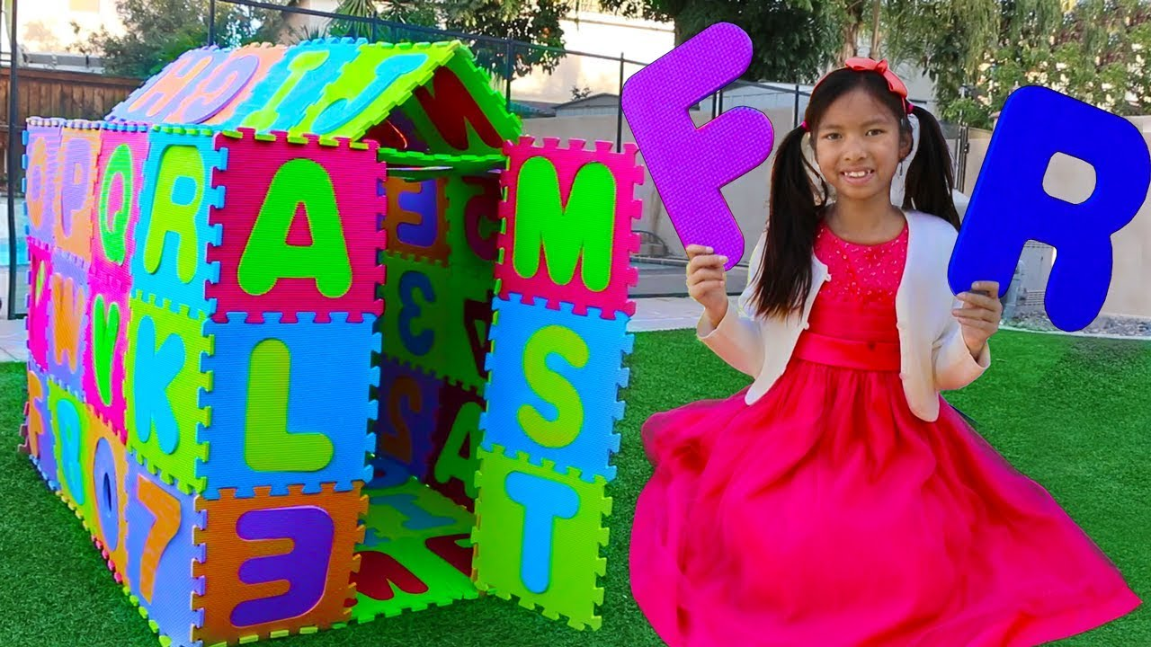 ABC Playhouse Song | Wendy Pretend Play w ABCs Toys & Learns the Alphabet Nursery Rhymes Songs