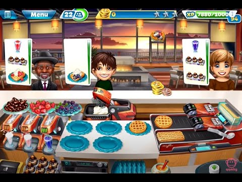 Get 【Cooking Fever】Sunset Waffles Level 40 (3 stars) Images