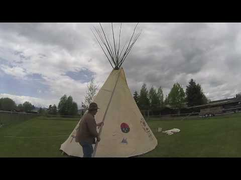 How to set up a canvas tipi and liner