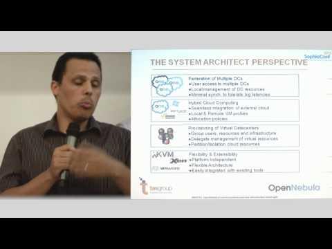 SophiaConf2015 - F. De Simoni L. Saadi - Opennebula & son écosystème pour infrastructure cloud agile