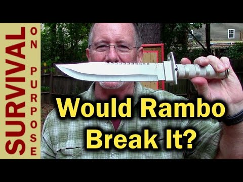 $8 Harbor Freight Survival Knife - Will It Break? - The Rambo Survival Knife Project