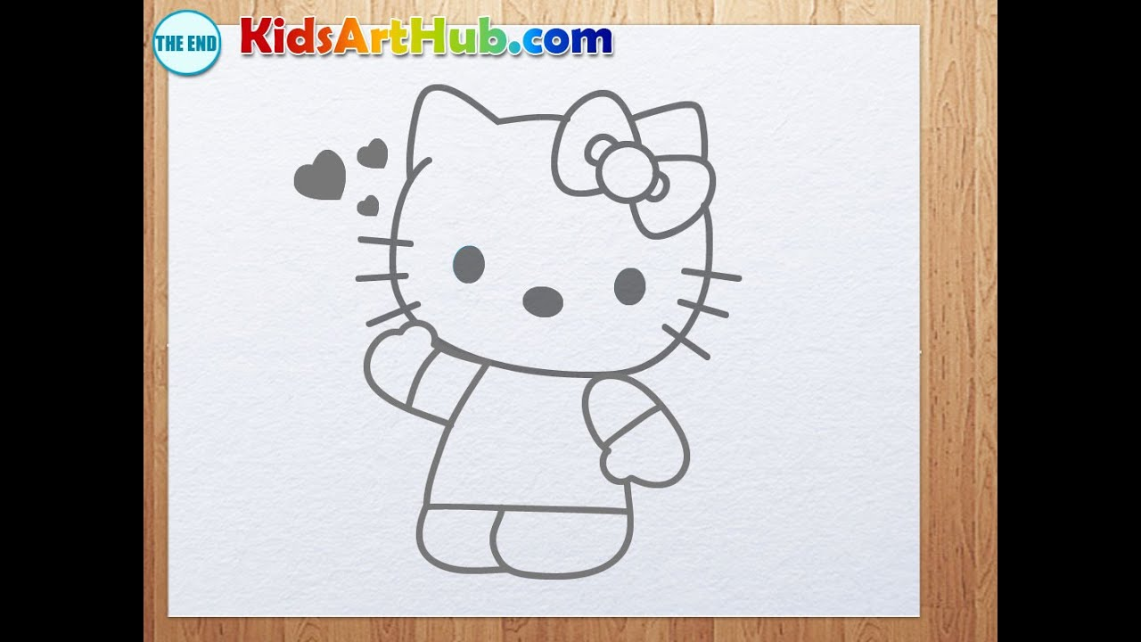 how to draw hello kitty - Hello Kitty Drawing Pictures