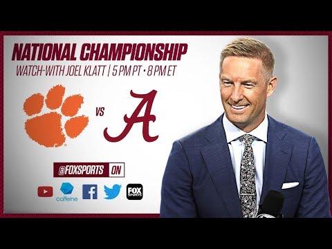Clemson vs. Alabama: 2019 CFB National Championship with Joel Klatt (Second Half)