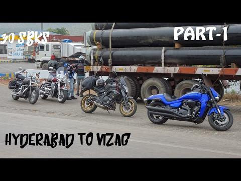 Hyderabad To Vizag Part 1 | 30 Superbikes