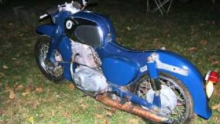 "Blue 1965 Honda 305 Dream CA77 (sean hays ""powerful stuff"")"