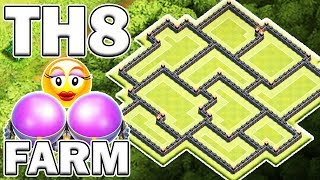 BEST TH8 FARMING BASE (ULTIMATE LOOT PROTECTION) - Clash of Clans
