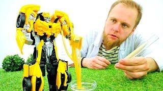 Игры с Трансформерами - Сыворотка силы! – Видео для мальчиков.