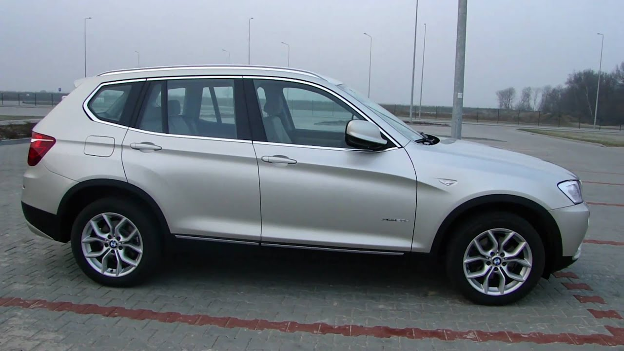 New BMW X3 F25 2011 Exterior  xDrive 20d in HD  YouTube