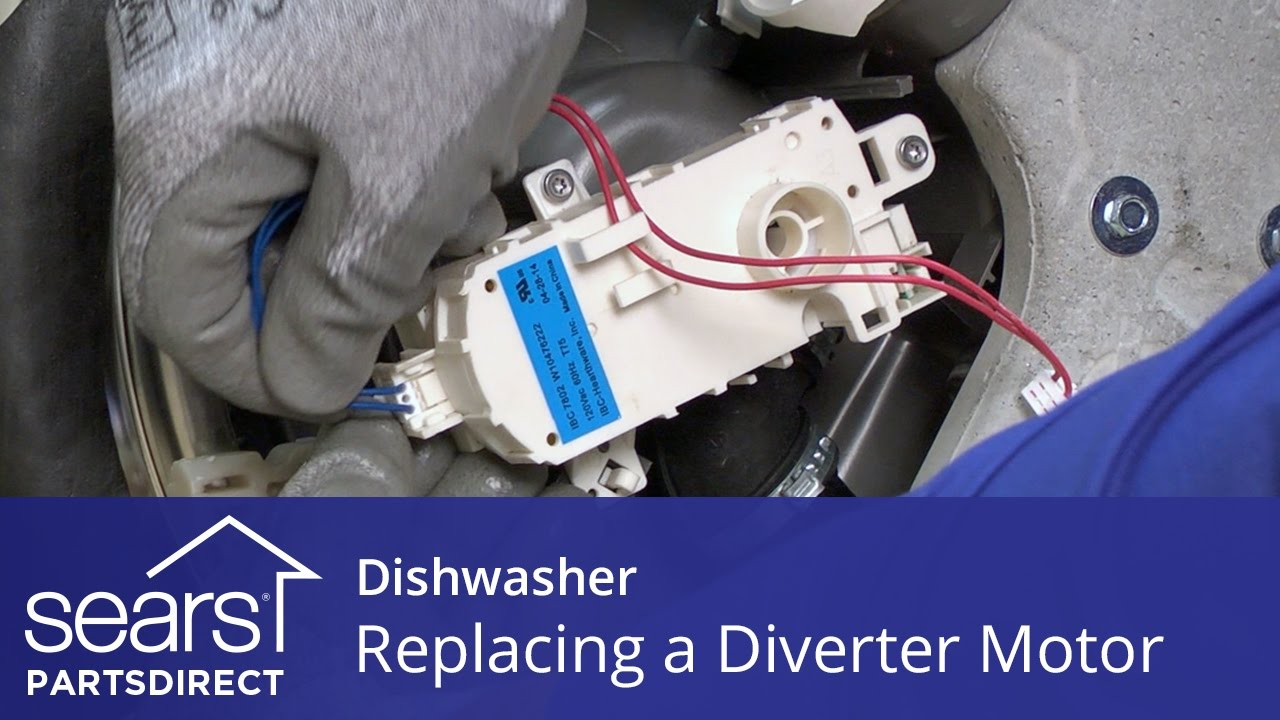 replacing the diverter motor on a dishwasher