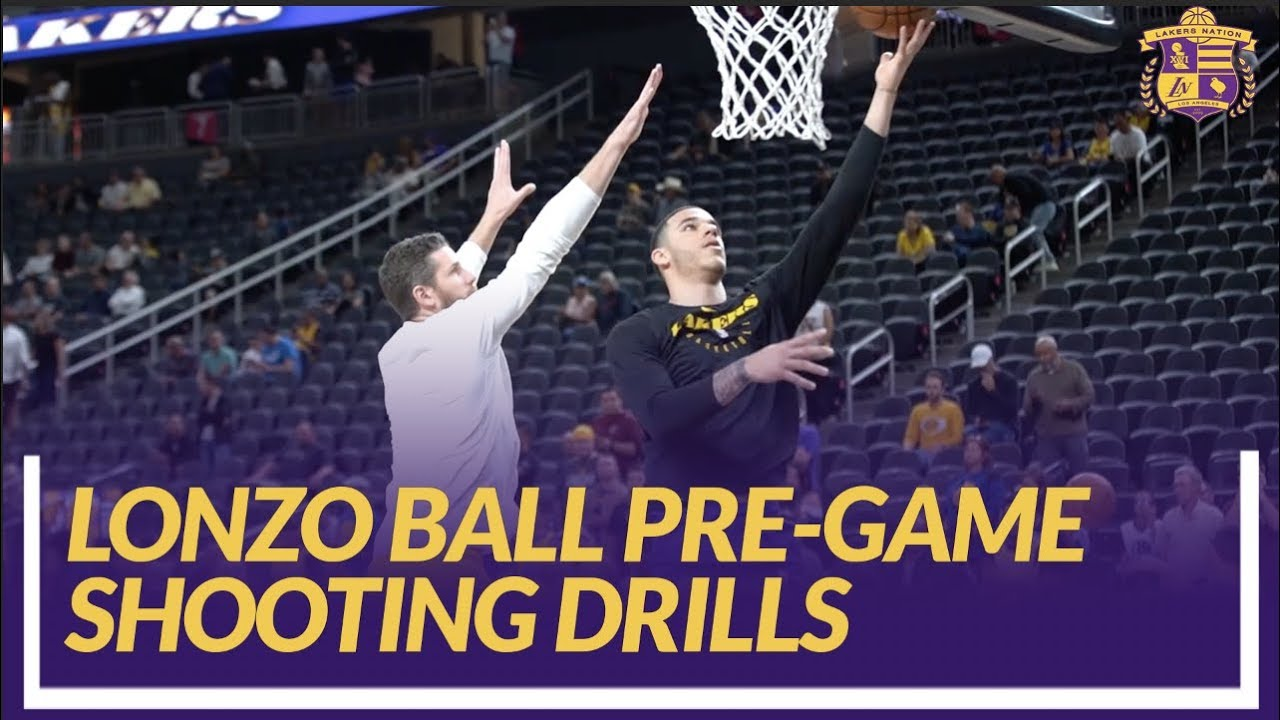 lakers-nation-pre-game-lonzo-ball-shooting-drills-before-his-first-game-back-from-injury