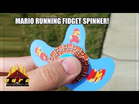 INSANE MARIO RUNNING ANIMATED FIDGET SPINNER!