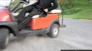 High Speed Golf Cart Chase