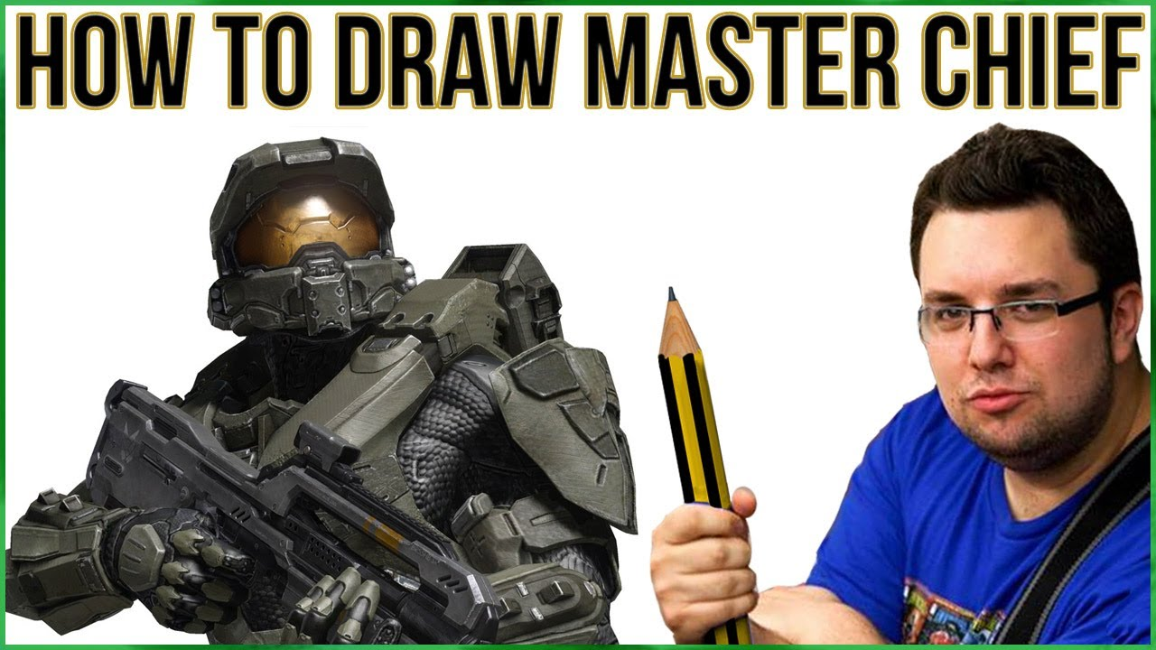 How To Draw Master Chief (halo)  Youtube