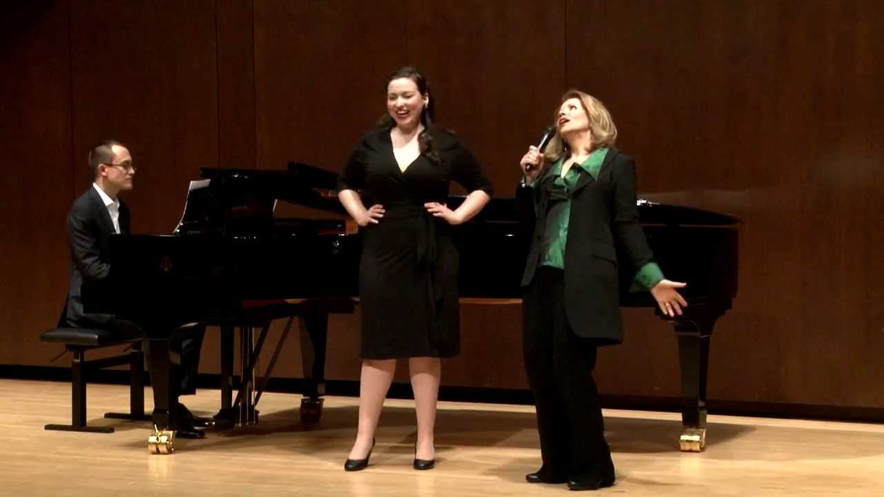 Renée Fleming Master Class, February 13, 2014: Raquel González and Bretton Brown