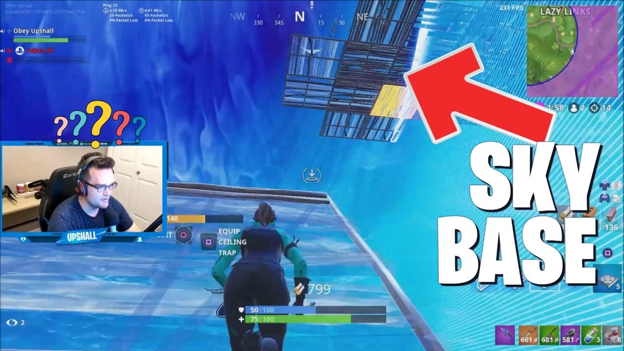 Building To A Sky Base Fortnite Battle Royale Gameplay Pc With A Controller