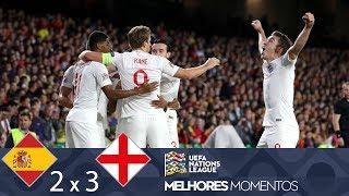 ESPANHA 2 X 3 INGLATERRA - MELHORES MOMENTOS - UEFA NATIONS LEAGUE (15/10/2018)
